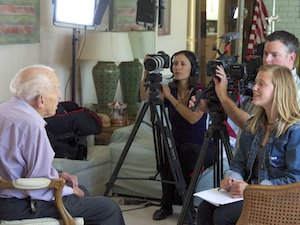 Dr Neale being interviewed