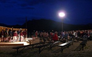 Philmont Training Center amphitheater at night