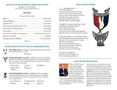 2014 Eagle Gathering program inside