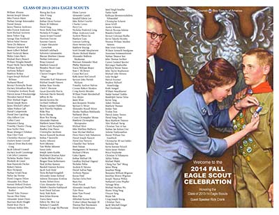 2014 Eagle Gathering program cover