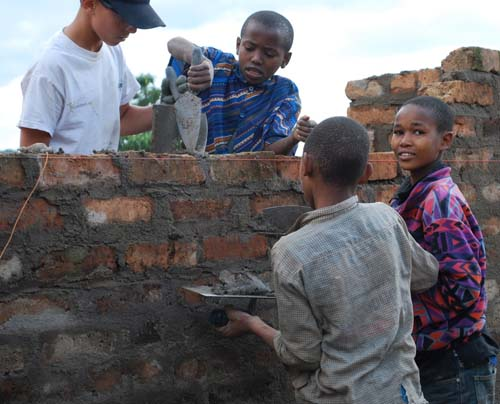 Tanzania kitchen brick work