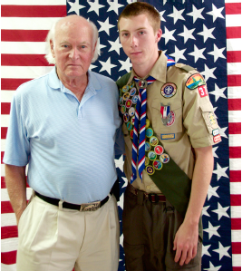 Patrick Selover and grandfather