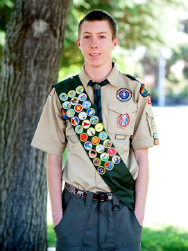 Patrick Selover in Scout uniform