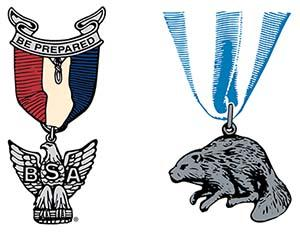 Eagle Scout & Silver Beaver award illustrations