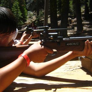 Scout at the rifle range