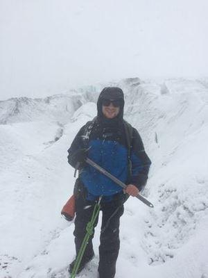 Zach Plante in the snow