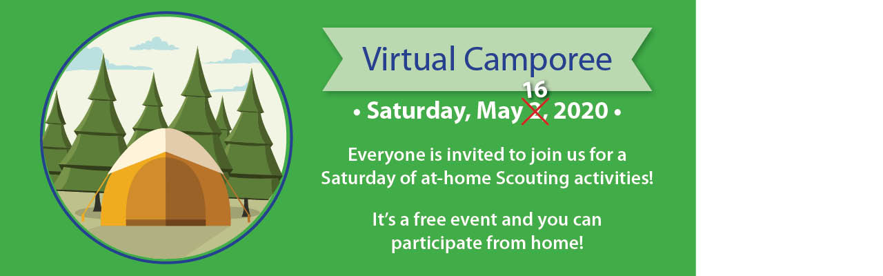 2020 Virtual Camporee banner, May 16, 2020