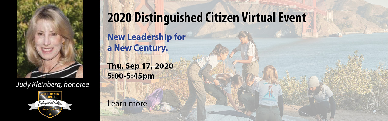 Distinguished Citizen Award Virtual Event honoring Judy Kleinberg
