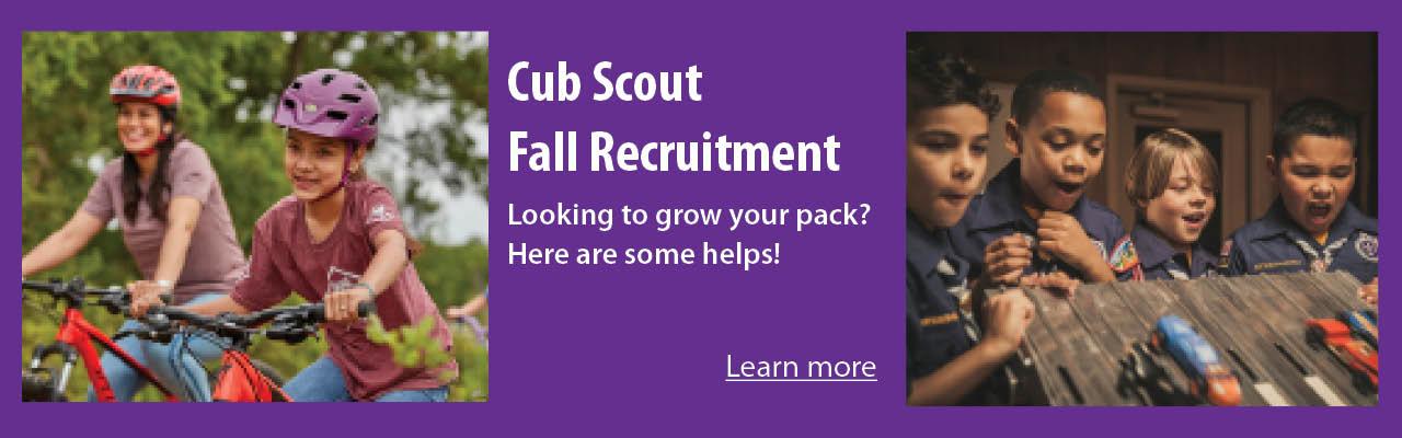 Cub Scout Fall Recruitment banner