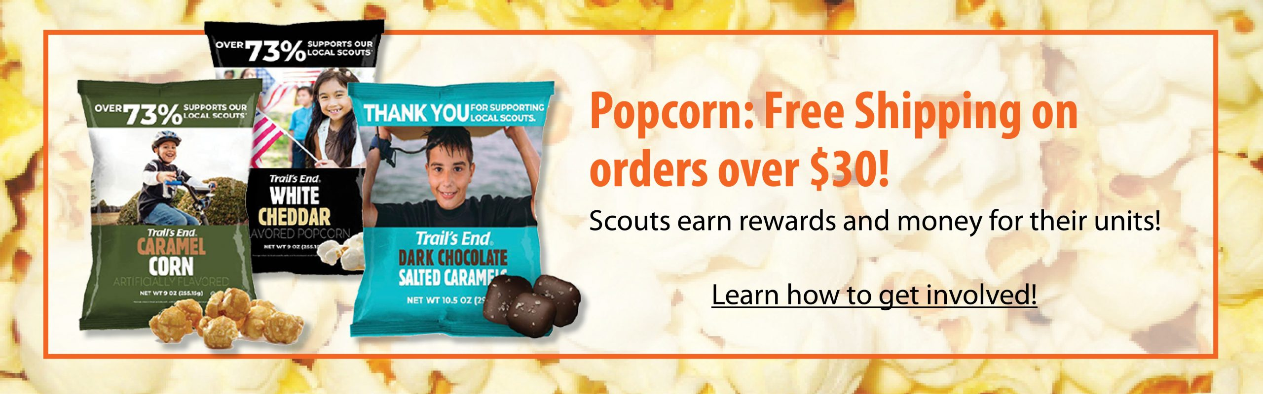 Popcorn: Free shipping on orders over $30